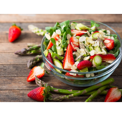 A Tasty Summer Trio: Strawberry, Feta and Almond Salad