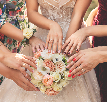 What Nail Colors Look Best On Bridesmaids, By Dress Color