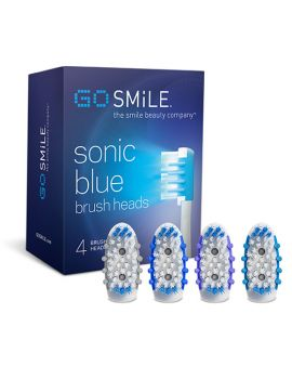 GO SMILE Sonic Blue Replacement Toothbrush Heads