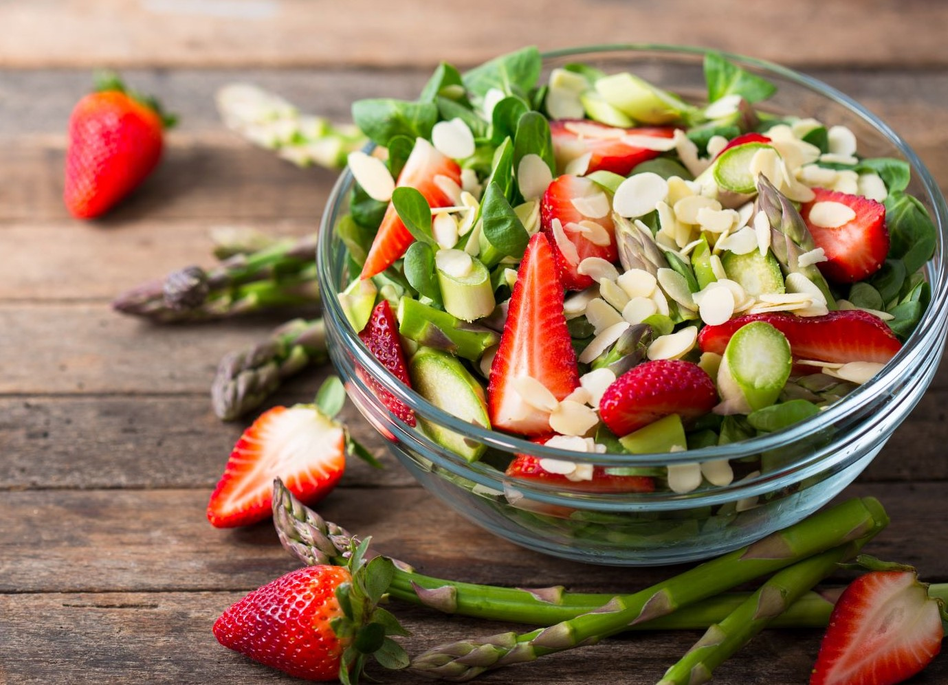 A Tasty Summer Trio: Strawberry, Feta and Almond Salad