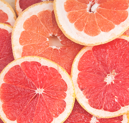 Grapefruit slices for healthy hair