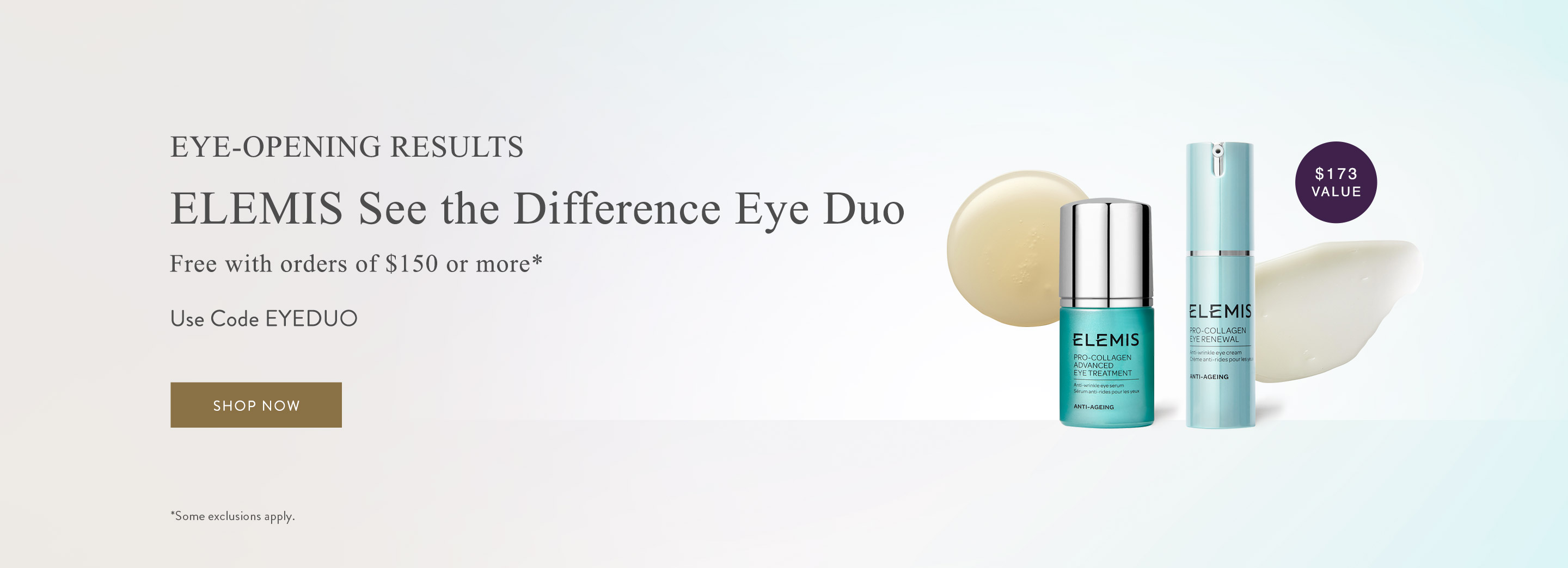 Free See the Difference Eye Duo with orders of $150 or more. Use code EYEDUO