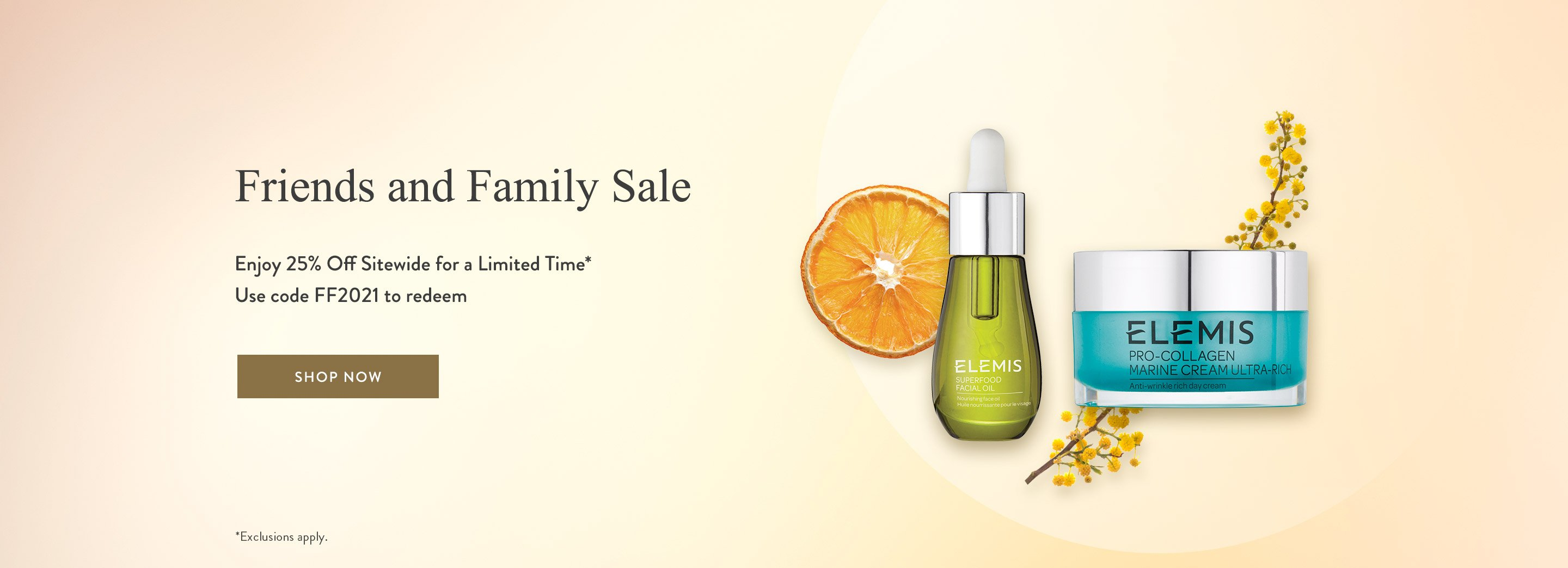 Friends and Family Sale - Up to 25% Off Sitewide
