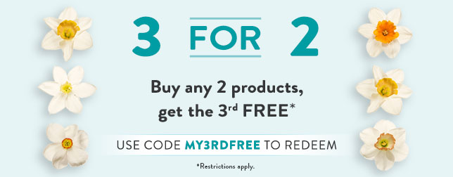 Buy any 2 products, get the 3rd free| Use code MY3RDFREE