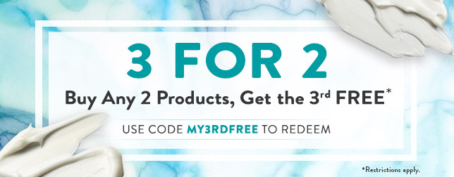Buy 2, get the 3rd FREE with code MY3RDFREE